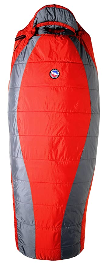 Big Agnes Encampment 15 grado Climashield HL saco de dormir, hombre, Red/Gray