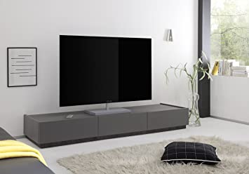 Rex TV Möbel Mit Schubladen, Holz, Anthrazit Matt, 184 X 51 X 24