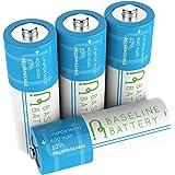 4 14430 400mAh LiFePO4 Rechargeable Batteries 3.2v Baseline Battery IFR Lithium Phosphate Solar Garden Light