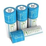 4 14430 400mAh LiFePO4 Rechargeable Batteries