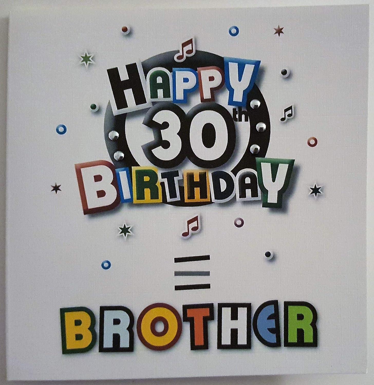 Tarjeta del feliz cumpleaños - hermano 30 cumpleaños ...