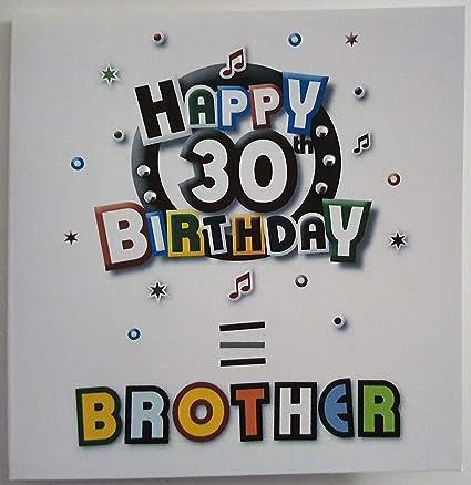 Amazing Happy Birthday Card Brother 30Th Birthday Handmade Card Amazon Personalised Birthday Cards Bromeletsinfo