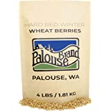 Hard Red Winter Wheat Berries • Non-GMO Project Verified • 4 LBS • 100% Non-Irradiated • Certified Kosher Parve • USA Grown •