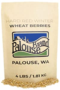 Hard Red Winter Wheat Berries • Non-GMO Project Verified • 4 LBS • 100% Non-Irradiated • Certified Kosher Parve • USA Grown • Field Traced • Resealable Kraft Bag