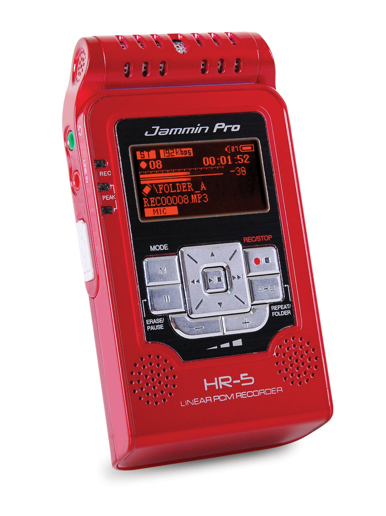 Jammin Pro HR5RED Studio Flash Recorder, Red by Jammin Pro (Image #3)