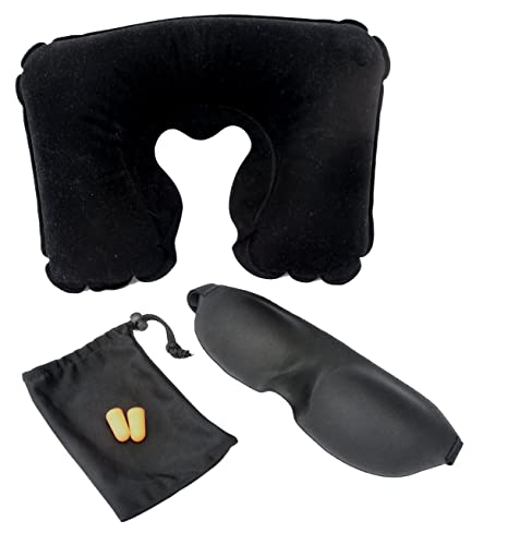 Susama Pure Silk Sleep Mask - Includes Free Ear Plugs, Free Travel Pillow and Free Carry Bag!...