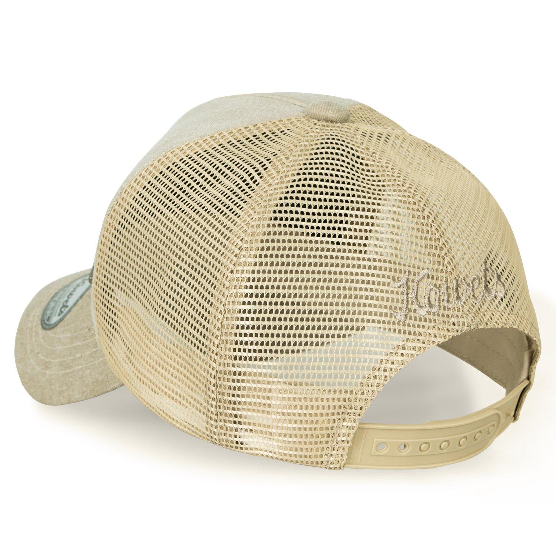 8fd8f432a1b ililily Howels Denim Solid Color Baseball Cap Metal Badge Mesh Trucker Hat