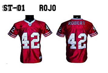 NY FRIDAYS Camiseta Futbol Americano Rojo st/01 (XS): Amazon.es: Deportes y aire libre