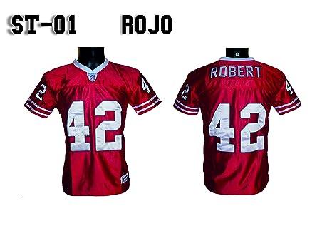 NY FRIDAYS Camiseta Futbol Americano Rojo st/01 (XS)