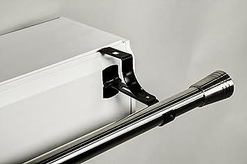 2 supports sans perage geko pour tringle rideaux diamtre 28 mm spcial caisson de - Poser Tringle Rideau Caisson Volet Roulant