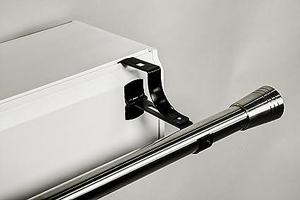 Rideau Coffre Volet Roulant.2 Supports Sans Percage Geko Pour Tingle A Rideaux Diametre 20 Mm Special Coffre De Volet Roulant A Rainure Colori Noir