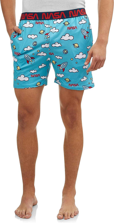 Nick Graham Mens X NASA All-Over Print Knit Jam Sleep Shorts Pajama Bottom