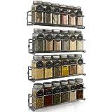 Premium Spice Rack Organizer for Cabinets or Wall Mounts - Space Saving Set of 4 Hanging Racks - Perfect Seasoning Organizer