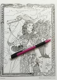 Amazon.com: Myth & Magic: An Enchanted Fantasy Coloring