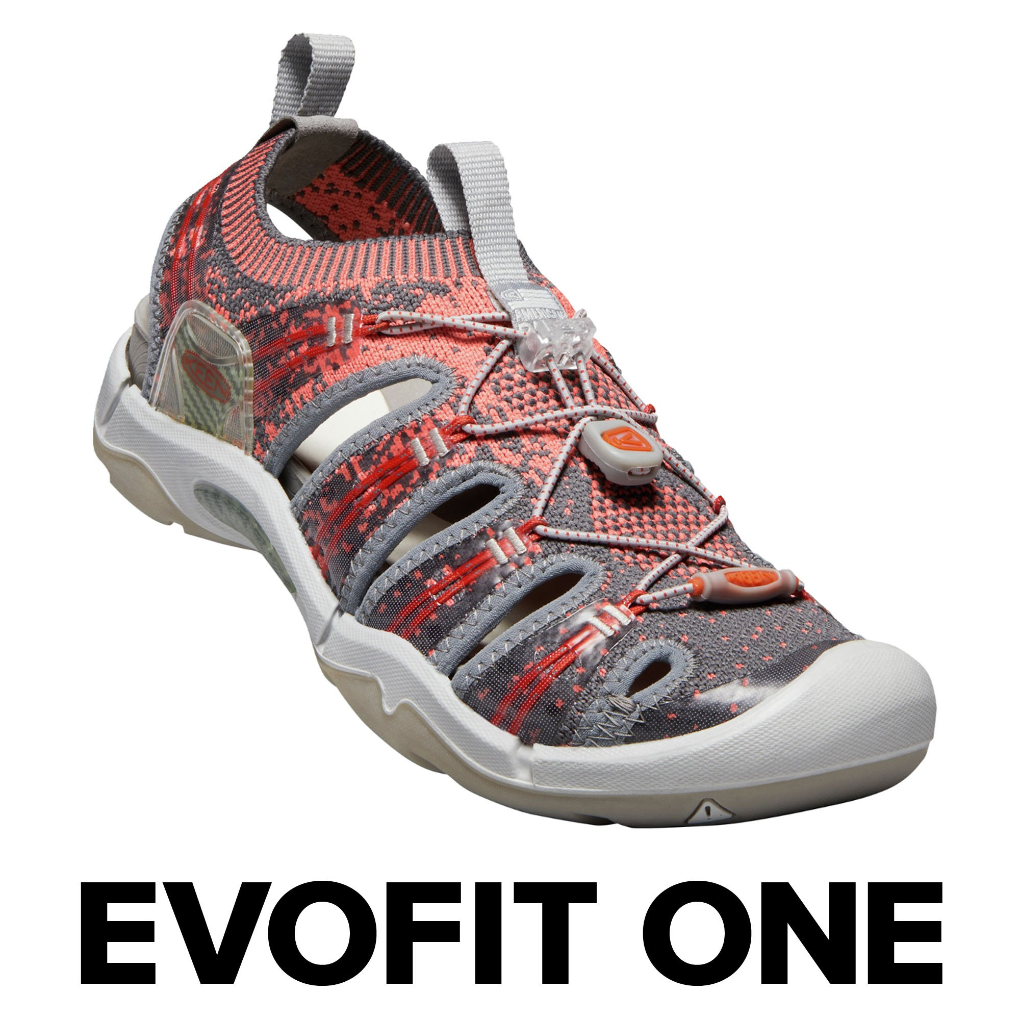 KEEN Evofit One, Women's Water Sandal For Outdoor Adventures, 8 M US, Crabapple/Summer Fig