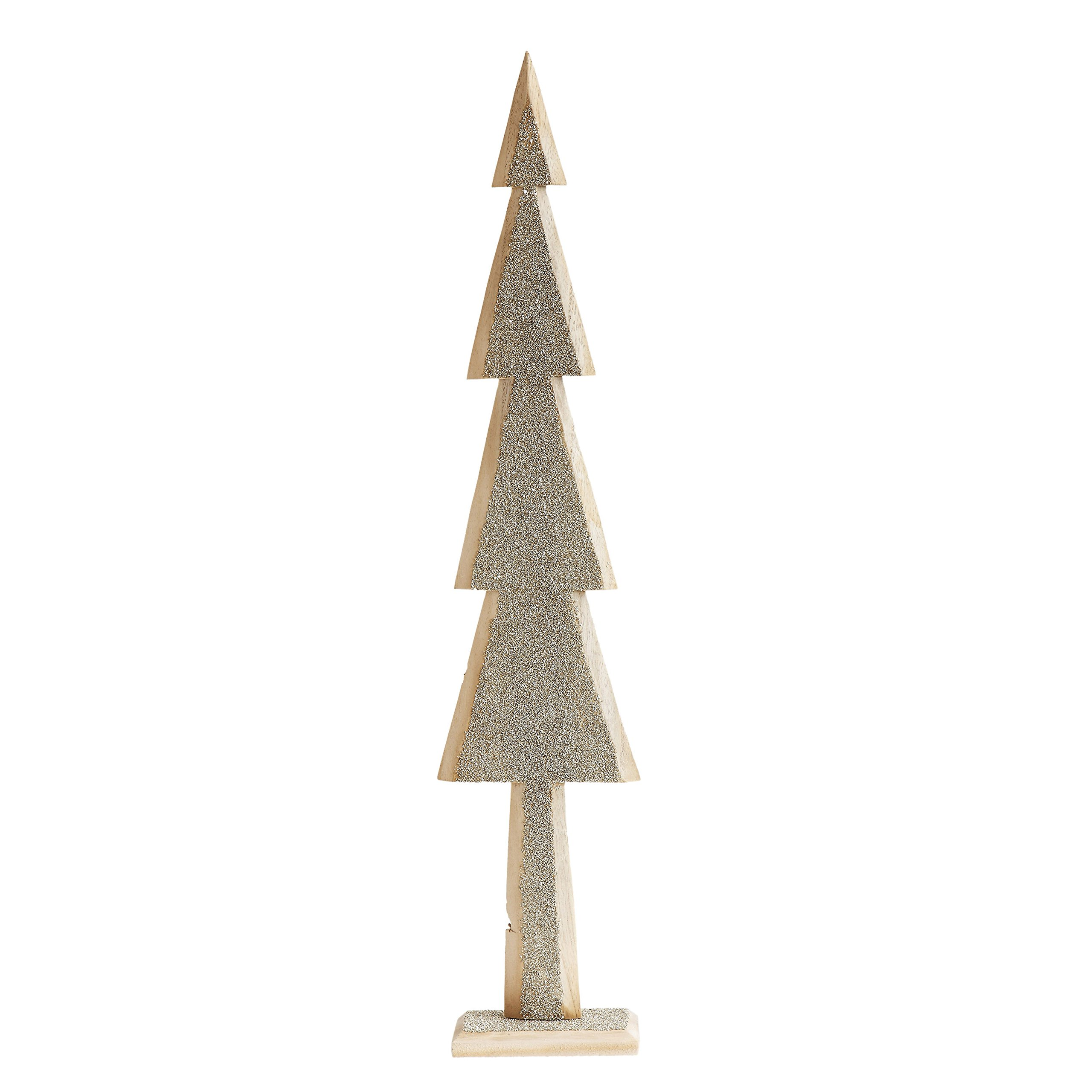 Creative Co-op XM1349 Large Wood Tree with Glitter