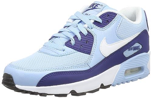 timeless design cf8e8 080f9 Nike Air Max 90 Mesh (Gs), Zapatillas de Running Para Niñas, Azul  (Phlox/white/flash Coral), 36: Amazon.es: Zapatos y complementos
