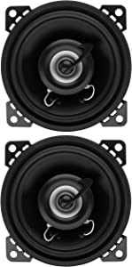 Planet Audio TRQ422 4 Inch Car Speakers - 225 Watts of Power Per Pair, 112.5 Watts Each, Full Range, 2 Way, Sold in Pairs