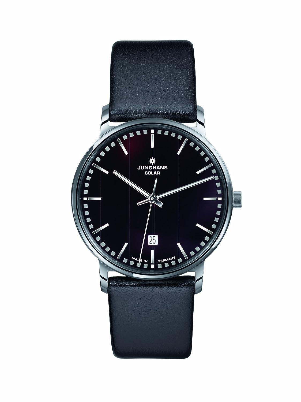 Junghans Herren-Armbanduhr XL MILANO SOLAR Analog Leder 014-4060
