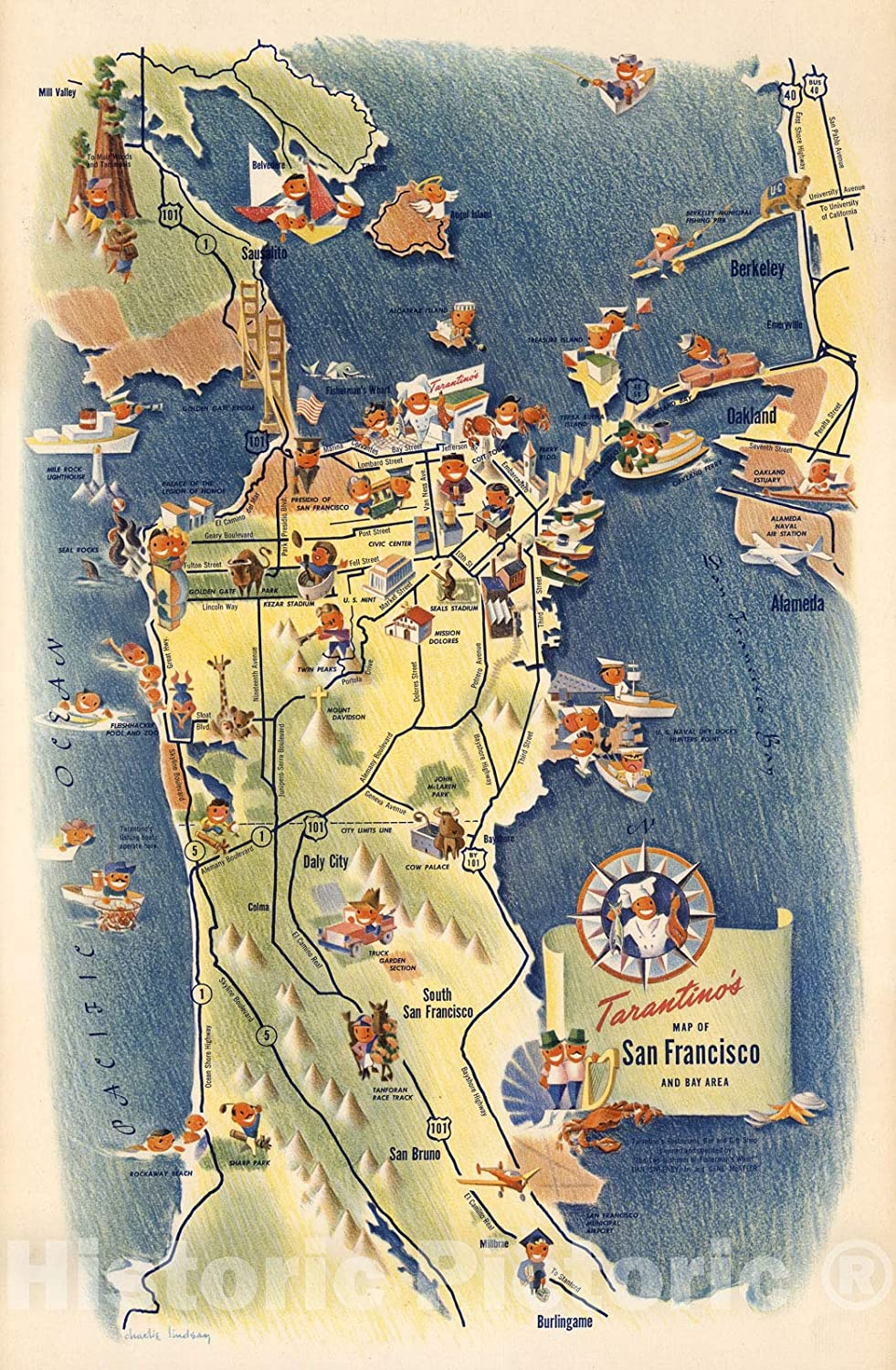 Amazon Com Historic Map Tarantinos Map Of San Francisco And Bay Area Charlie Lindsay 1950 Vintage Wall Art 44in X 67in Posters Prints The federal tax bill, passed in december 2017, allows investors to defer or eliminate capital gains on investments made in opportunity zones. historic map tarantinos map