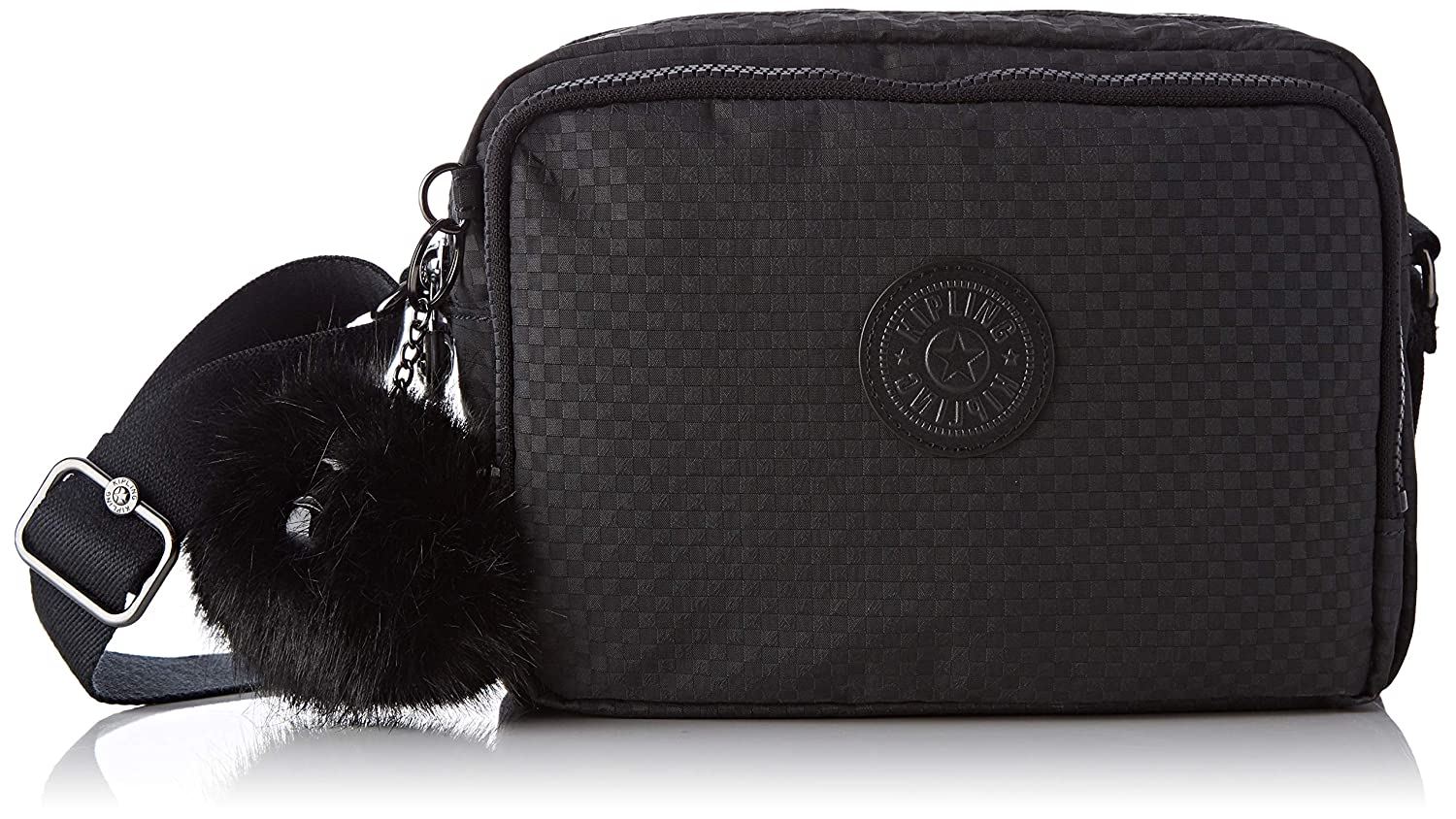 Black (Powder Black) Kipling Women's Silen CrossBody Bag