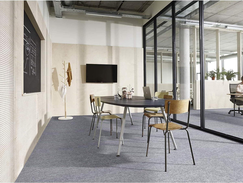 Anthrazit Nadelfilz Meterware TURBO B1 Teppichboden Antistatische Zertifizierte Auslegeware Schalld/ämmender Nadel-Vlies Bodenbelag 2,00m x 9,00m