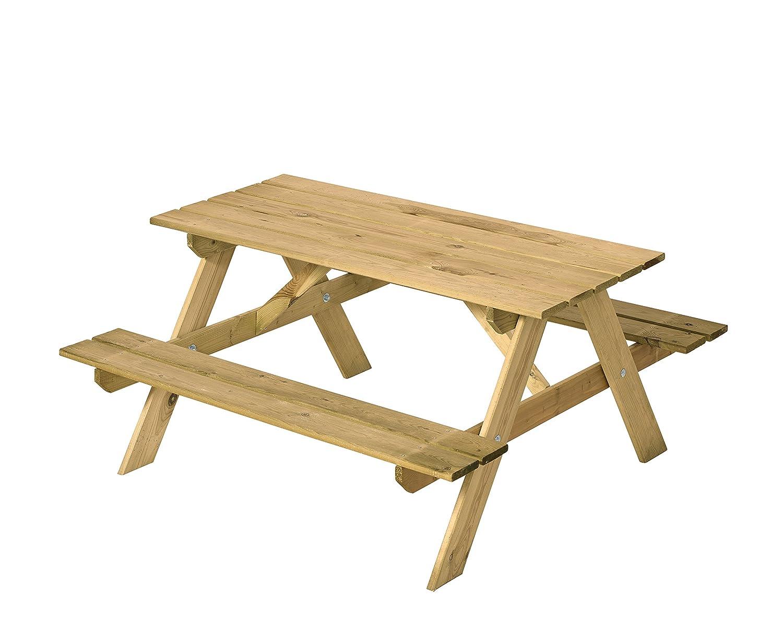Kindersitzgruppe Holz als Garten Kinder Picknicktisch Lärche ölbehandelt - Woodinis