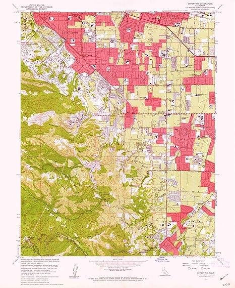 Amazon.com : YellowMaps Cupertino CA topo map, 1:24000 Scale, 7.5 X on