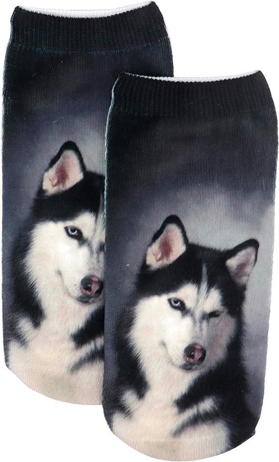 Cotton Dress Socks For Men Women Casual Husky Hund Malamut Socks