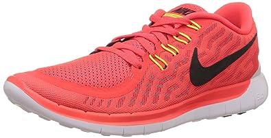 Nike Free 5.0 - Sneaker pour Homme, Bright Crimson/Black-Total Orange-