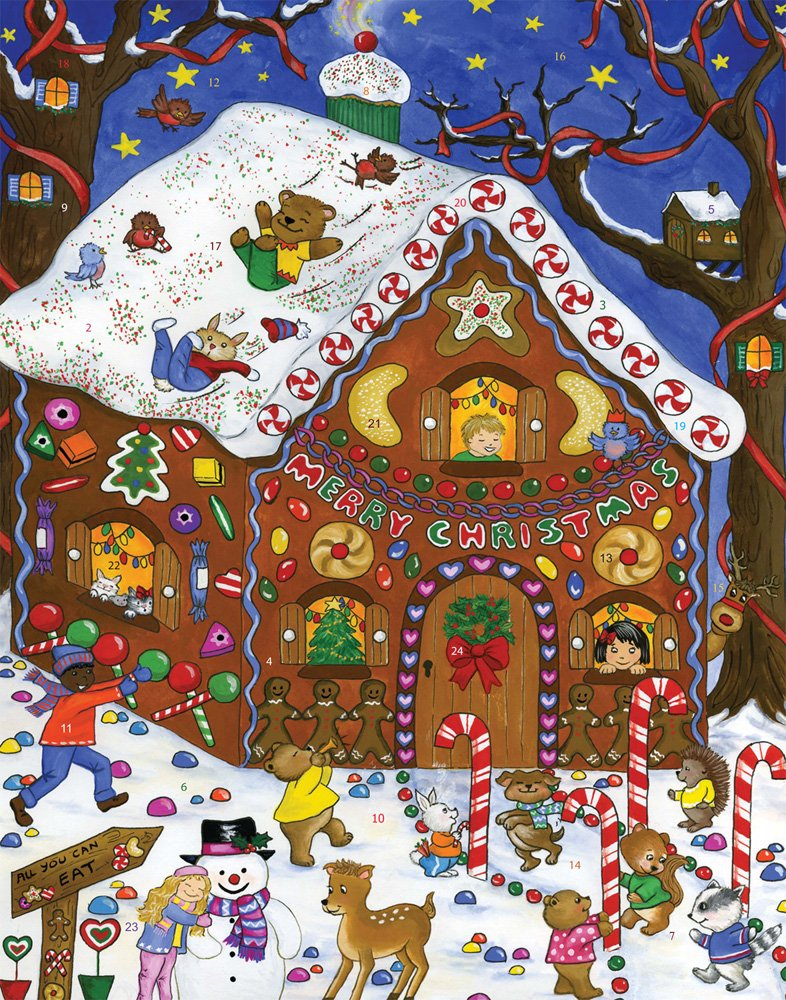 Gingerbread Fun Advent Calendar (Countdown to Christmas) Vermont Christmas Company BB710
