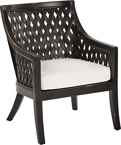 OSP Home Furnishings Plantation Solid Wood Frame Lounge Chair