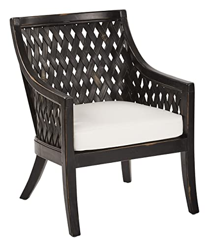 OSP Designs Plantation Lounge Chair with Cushion In Antique Finish, Black - Amazon.com: OSP Designs Plantation Lounge Chair With Cushion In