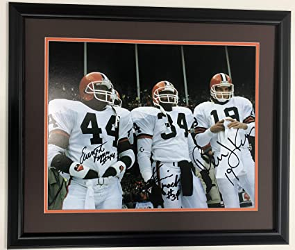 2e8abc952b5 Earnest Byner-Kevin Mack-Bernie Kosar Autographed Cleveland Browns 16x20  Photograph-Certified Authentic-Includes Mat and Frame at Amazon's Sports ...