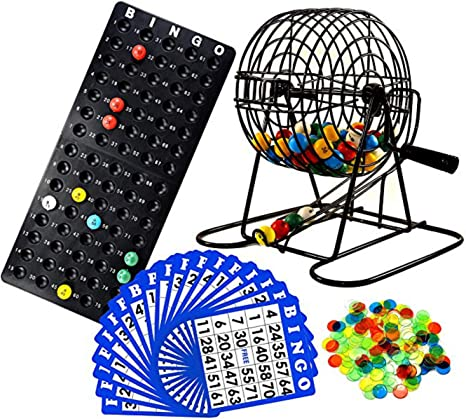 Bingo Lottery Cage Rotary Cage Game Family Game Aids for Fun Kit 75 Balls