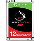 Seagate ST12000NE0007 12 TB IronWolf Pro 3.5 Inch 7200 RPM Internal Hard Drive for 1-16 Bay NAS Systems (256 MB Cache, 300 TB/Year Workload Rate, Up to 250 MB/s)
