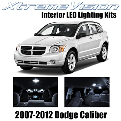 XtremeVision Interior LED for Dodge Caliber 2007-2012 (6 Pieces) Pure White Interior LED Kit + Installation Tool: Automotive