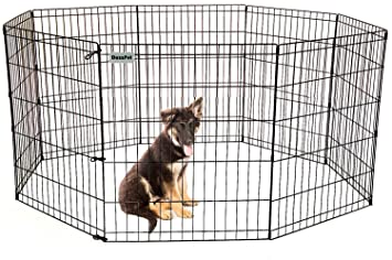 DazzPet Dog Pen Puppy Playpen | 30u0026quot; Height Indoor Outdoor Exercise  Outside Play Yard |