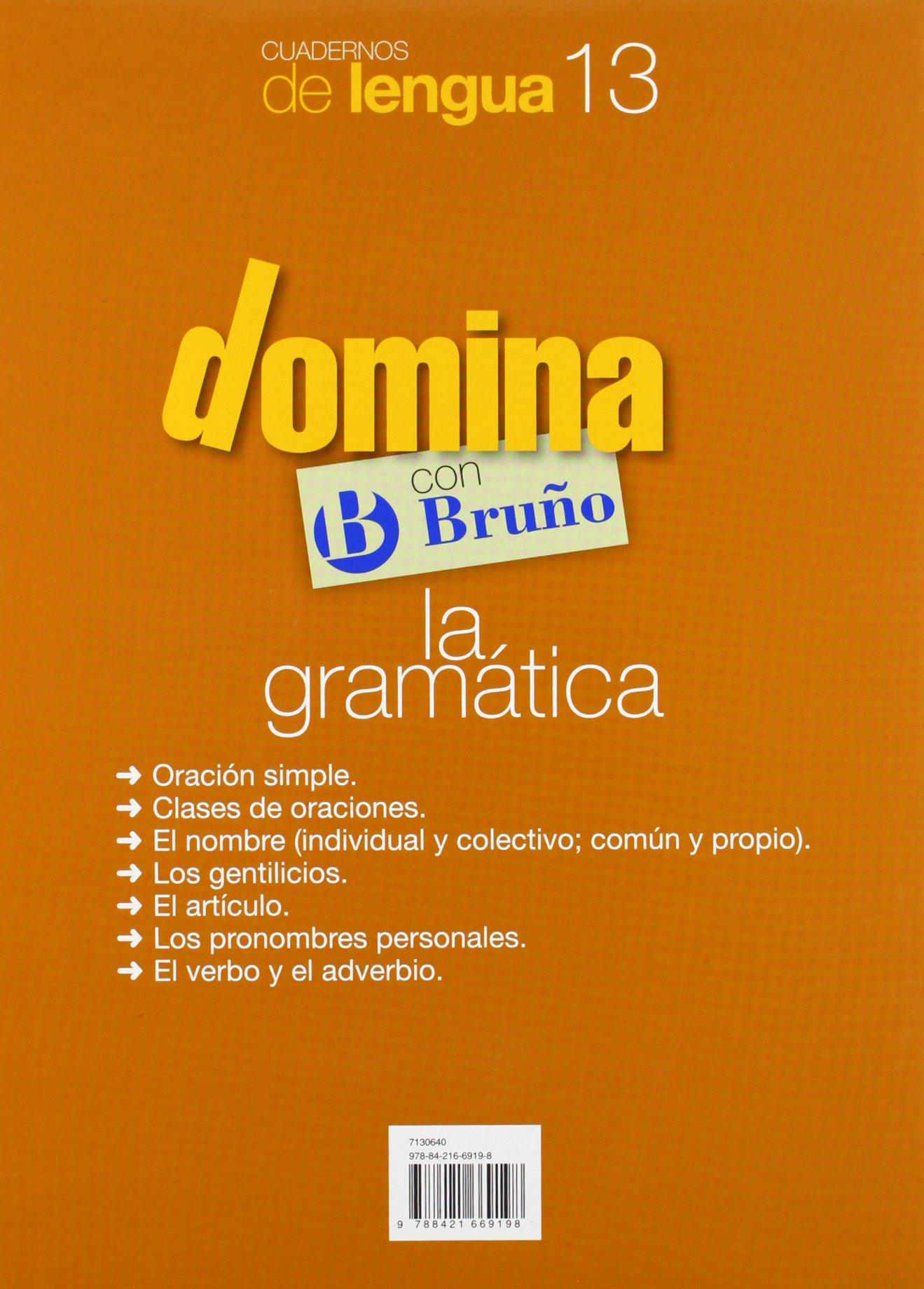 Cuadernos Domina Lengua 13 Gramática 4 Castellano - Material Complementario - Cuadernos De Lengua Primaria - 9788421669198: Amazon.es: Juan Cruz Martínez: ...