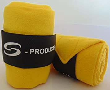 S-Products 4 Horse Bandaged EJERCICE Dressage Schooling FLATWORK Vet Stable Wrap Polo Fleece 5 Wide