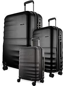 Pierre Cardin - 2881 Set of 3 Hardside Suitcases 54cm/65cm/75cm - Black