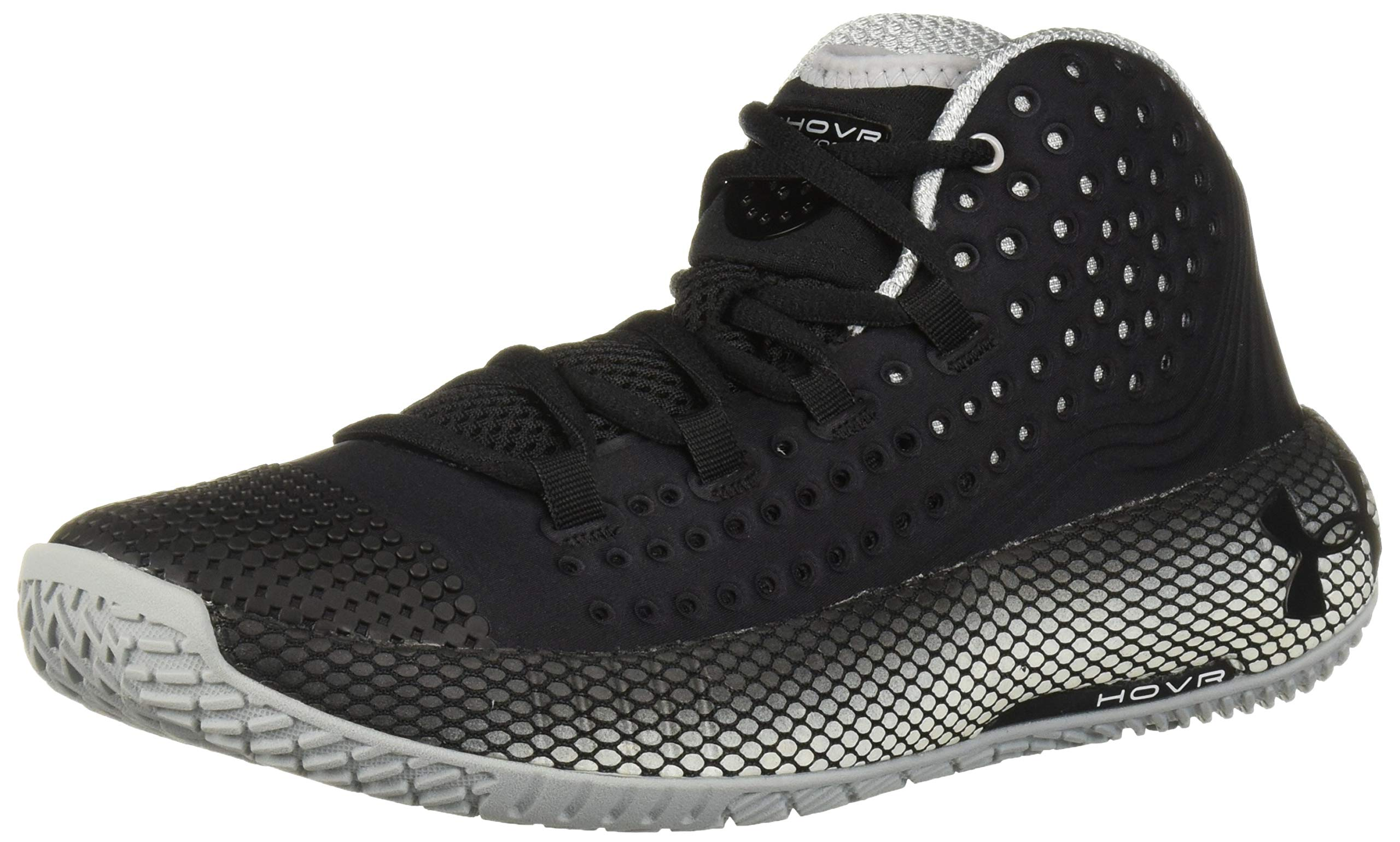 Under Armour Women's HOVR Havoc 2 Basketball Shoe, Black (001)/White, 9.5 by Under Armour