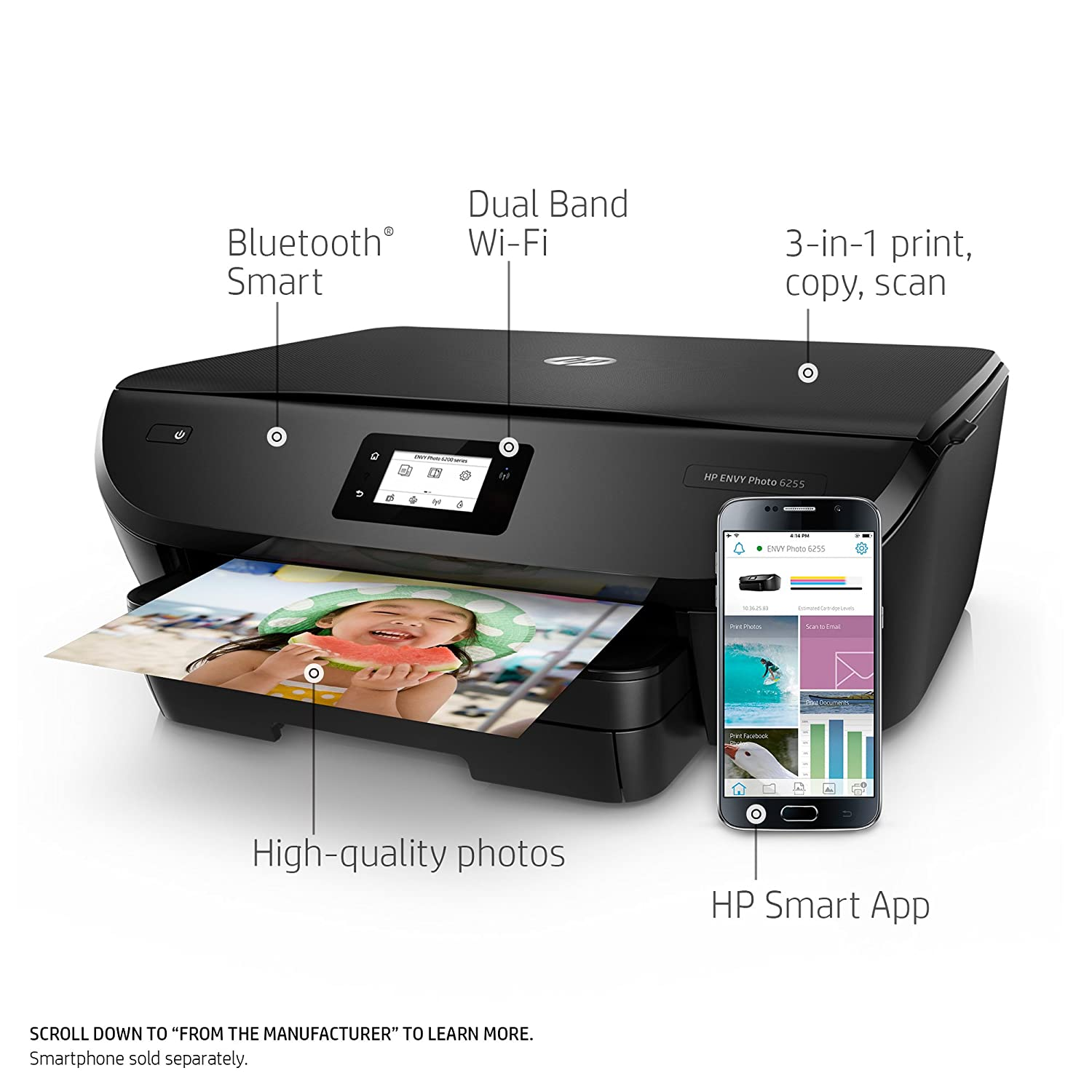 Hp Envy Photo 6255 All In One Printer With 8500a Wireless Diagram Printing Instant Ink Ready K7g18a Electronics