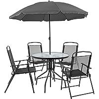 Flash Furniture Nantucket 6Pc Patio Garden Set w/Table