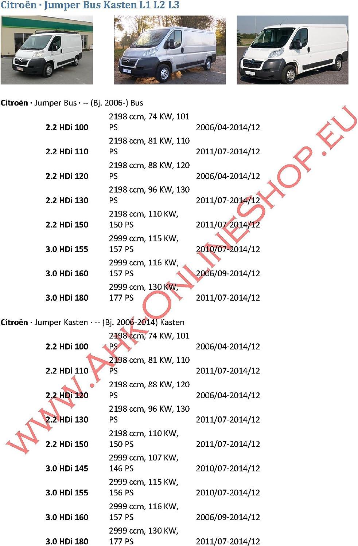 Für Citroen Jumper Kasten Bus 06-11 L1 L2 L3 Anhängerkupplung abnehmbar+13p spez