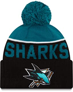 c78cb2bb33d Amazon.com  San Jose Sharks Mitchell   Ness Beanie w  Pom  Clothing