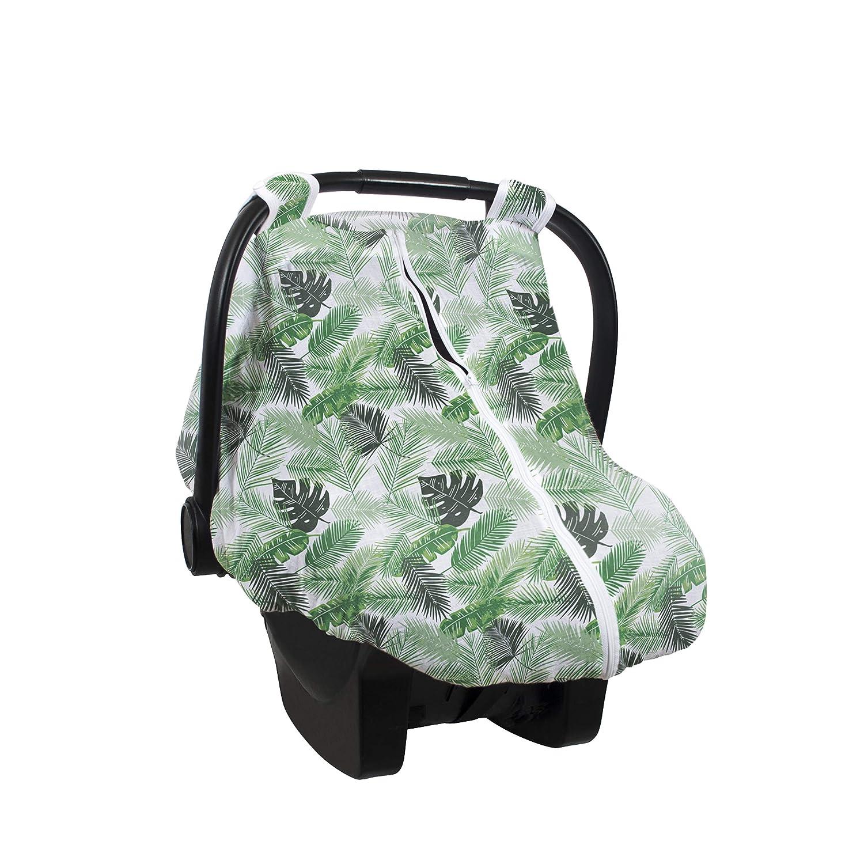 Bebe au Lait Premium Muslin Car Seat Cover, Palms