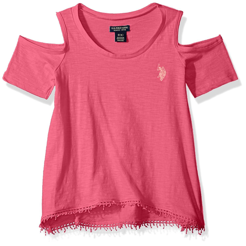 U.S. Polo Assn. Girls' Short Sleeve Fashion T-Shirt 4348