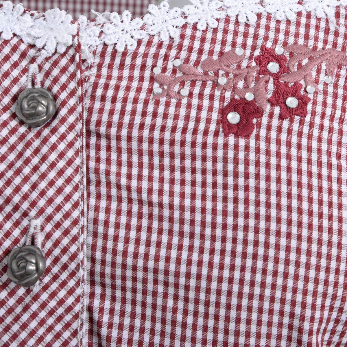 Trachtenbluse Britt Maren in Rot von Marjo Trachten
