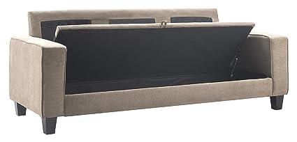 Amazoncom Serta Uph10134e Palisades Storage Sofa Beige Kitchen